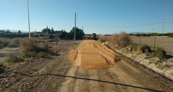 Mejora en los caminos de servicio en Murcia